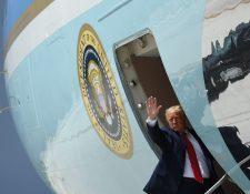 El presidente Donald Trump visitó Miami, Florida, en donde habló sobre una propuesta migratoria. (Foto Prensa Libre: AFP)