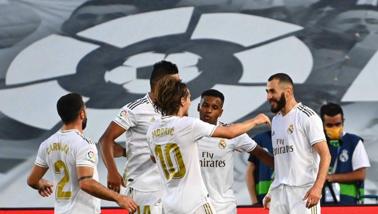 Un delantero del Real Madrid dio positivo al coronavirus. (Foto Prensa Libre: AFP)