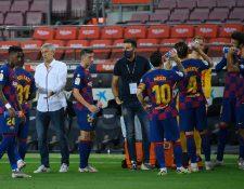 El técnico del Barcelona habló de las declaraciones del argentino Lionel Messi. (Foto Prensa Libre: AFP)
