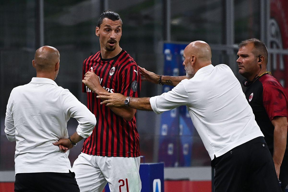 Ibrahimovic muestra su molestia con Pioli por ser relevado