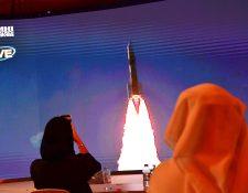 El lanzamiento de Al Amal, la primera misión espacial árabe hacia marte, se realizó desde el centro espacial de Tanegashima en Japón. (Foto Prensa Libre: Agence France-Presse)