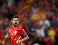David Villa ha sido acusado de abuso sexual. (Foto Prensa Libre: AFP)