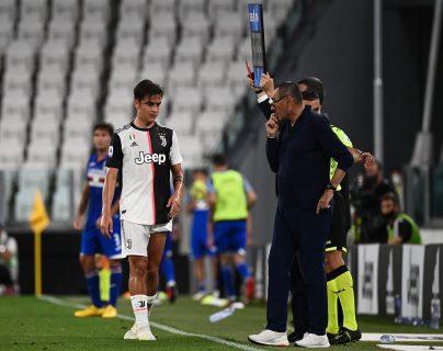 Paulo Dybala es la gran duda de la Juventus para la Champions League. (Foto Prensa Libre: AFP)