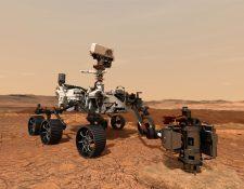 El robot Perseverance tiene la misión de buscar vida en Marte. (Foto Prensa Libre: AFP)