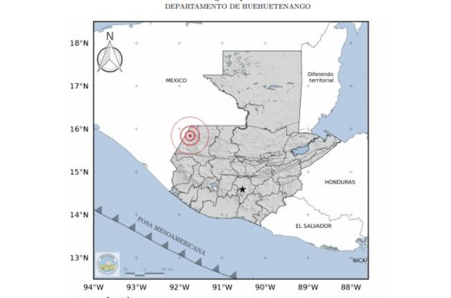 El Insivumeh informó que la intensidad del temblor fue de 4.5 grados.