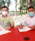 Cementos Progreso y la Municipalidad de San Martín Jilotepeque firmaron un convenio de reforestación. Foto Prensa Libre: Cortesía