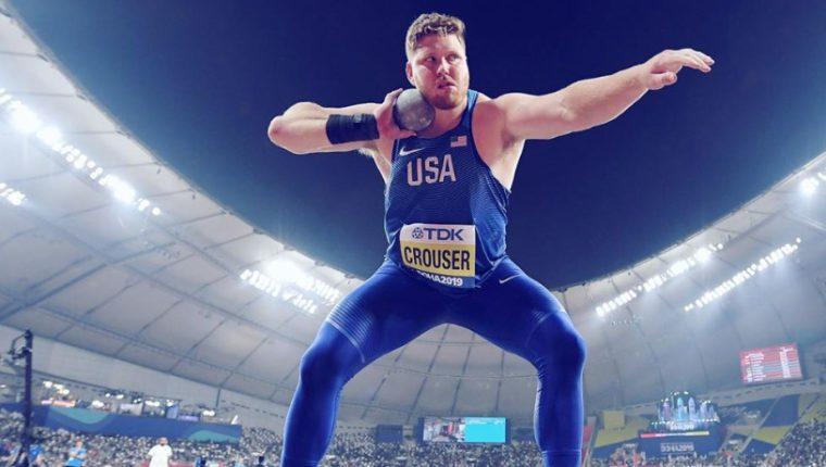 El lanzador de peso Ryan Crouser igualó por tercera vez su mejor lanzamiento. Foto Prensa Libre: Tomada de redes