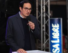 Christian Blank, gerente general de Prensa Libre habla de la campaña que apoya a empresarios. (Foto Prensa Libre: Hemeroteca PL)