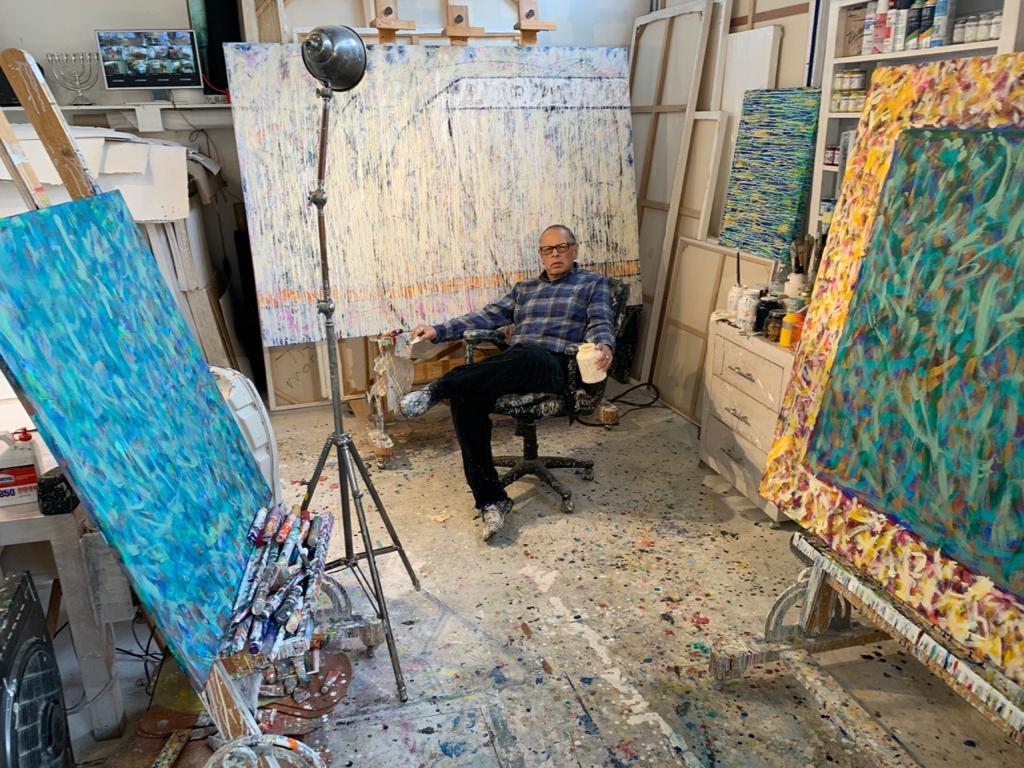 Fernando Díaz en su taller. Foto cortesía Rozas Botrán