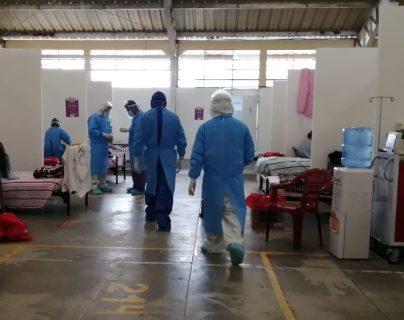 El Hospital Temporal de Quetzaltenango está cerca de llegar a su máxima ocupación. (Foto Prensa Libre: Cortesía)