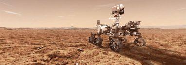 El róver Mars 2020 de la Nasa almacenará muestras de roca y suelo en tubos sellados, en la superficie del planeta, para futuras misiones de recuperación. (Foto Prensa Libre: Ilustración de la Nasa)