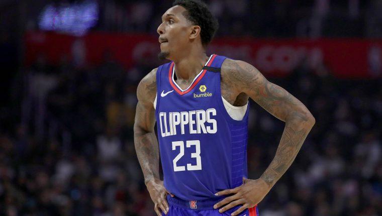 Lou Williams, de Los Angeles Clippers estará 10 días aislado por haber estado en un club nocturno. Foto prensa Libre: AFP