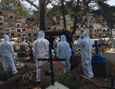 El cementerio municipal de Mixco está al 95 por ciento de su capacidad, según autoridades ediles. (Foto Prensa Libre: Municipalidad de Mixco)