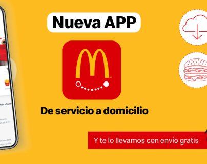 McDonald´s lanzó su nueva App Express para servicio a domicilio. Foto Prensa Libre: Cortesía