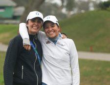Las golfistas nacionales Pilar Echeverría y Valeria Mendizábal estarán compitiendo en torneos en Estados Unidos. Foto prensa Libre: Cortesía Asogolf