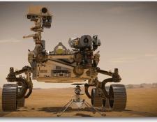 Ilustración artística de la nave exploratoria que se enviará a Marte el 30 de julio próximo. (Foto Prensa Libre: La Voz de América)