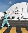 Vista de un hospital donde son atendidos pacientes por COVID-19, en la ciudad de Villahermosa, en el estado de Tabasco, México. (Foto Prensa Libre: EFE)