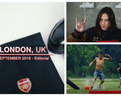Guillermo Andrade, diseñador guatemalteco, vestirá al Arsenal de Inglaterra. (Captura video 424)