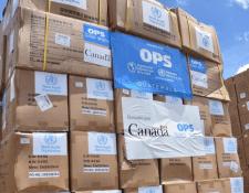 La donación fue especialmente para personal médico que está en primera línea frente al covid-19, dijeron funcionarios. (Foto: Ministerio de Salud).