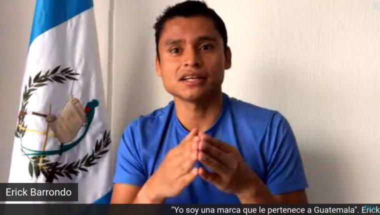 Érick Barrondo cuenta su experiencia como deportista y ahora como empresario. (Foto, Prensa Libre: Captura de pantalla webinar Hablemos de dinero).
