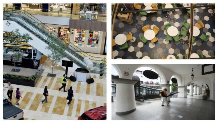 Varios Centros Comerciales en Guatemala abrieron sus puertas al público. (Foto Prensa Libre: Juan Diego González / María Renée Barrientos /Érick Ávila)