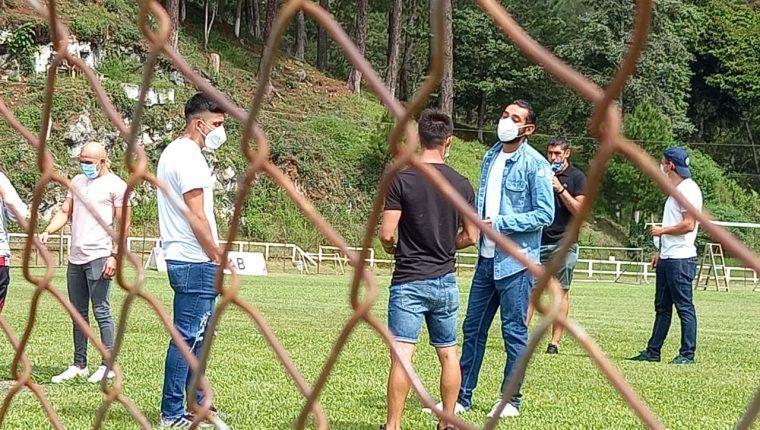 Los jugadores de Cobán Imperial, en el estadio Verapaz. (Foto Prensa Libre: La Red)