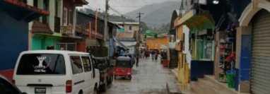 Centro de San Miguel Acatán, Huehuetenango. (Foto Prensa Libre: Tomada de San Miguel Acatán/Facebook)