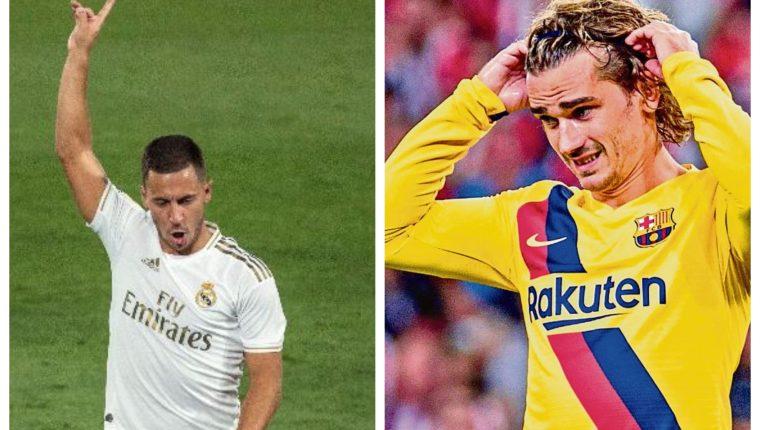 Eden Hazard y Antoine Griezmann decepcionaron durante la temporada de la Liga española. (Foto Prensa Libre: Hemeroteca PL)