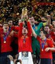 En el mundial de Sudáfrica 2010 España logró su primer título mundial. Foto Prensa Libre: Efe