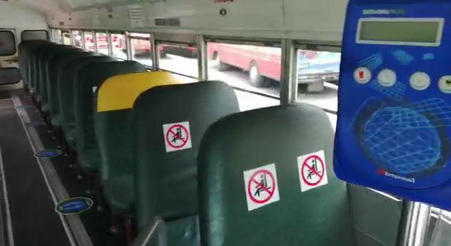 Los autobuses del servicio Express de Mixco ya están señalizados y listos para circular, pero no hay fecha para que empiecen. (Foto Prensa Libre: Mixco)