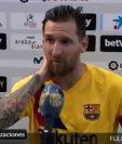 Lionel Messi habló al final del partido del Barcelona frente al Alvés.