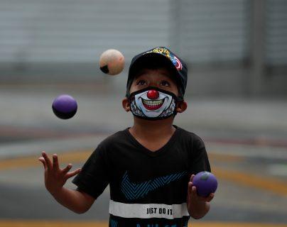 En Guatemala el 33.4% de la población es menor de 14 años, la pandemia del covid-19 tiene efectos secundarios en este grupo y poco se ha hecho para protegerlo. (Foto Prensa Libre: Esbin García)