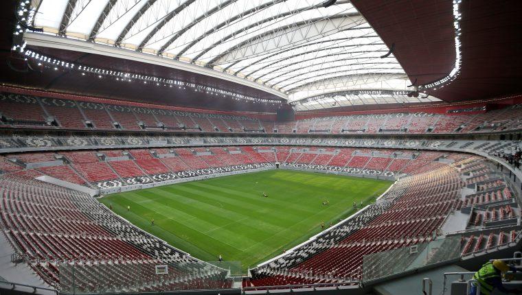Vista del estadio Al Bayt, uno de los ocho lugares para la Copa Mundial de la FIFA 2022. (Foto Prensa Libre: EFE)