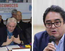 La Conferencia Episcopal de Guatemala y Jordán Rodas, jefe de la PDH. (Foto Prensa Libre: Hemeroteca PL)