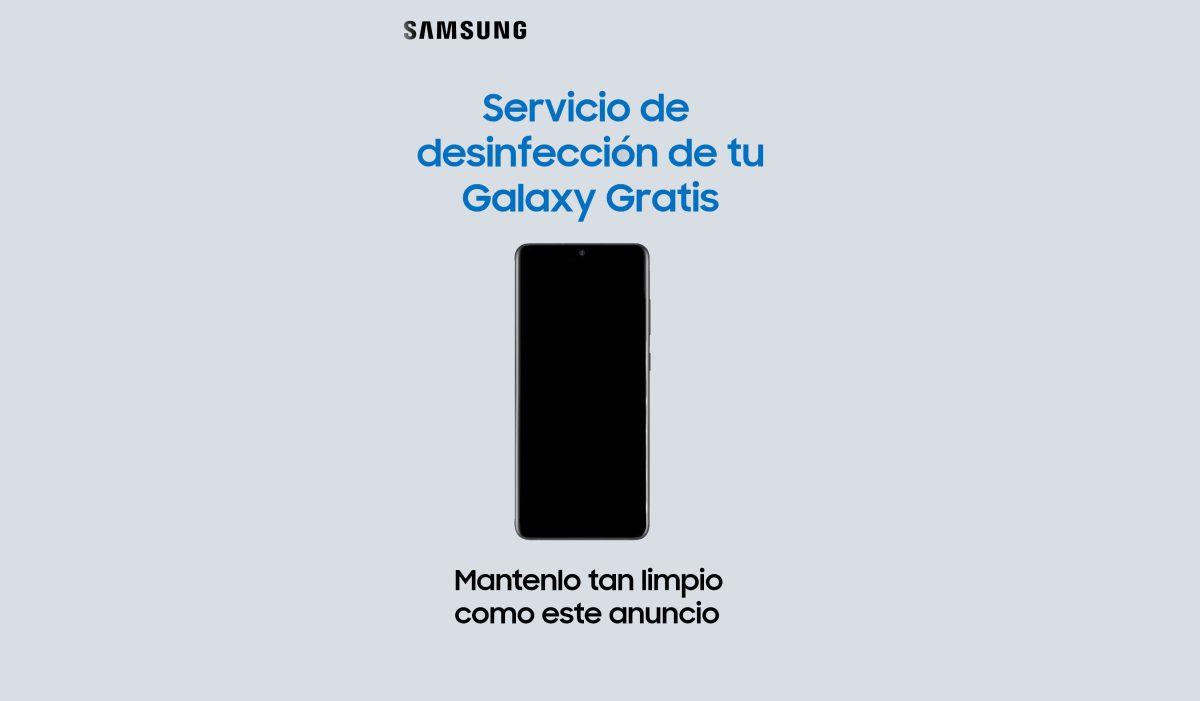 Samsung esteriliza los celulares de sus clientes