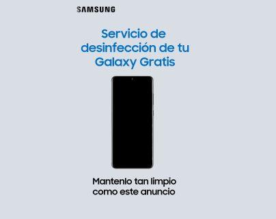 """La campaña """"Samsung Cuida de Ti"""", en la que ofrece el servicio de esterilización de celulares con equipo Ultravioleta gratis. Foto Prensa Libre: Cortesía."""