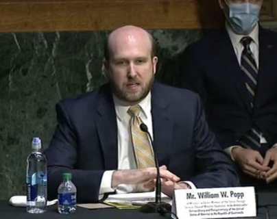 Nuevo embajador de Estados Unidos en Guatemala, Willia W. Popp, se presenta ante Cancillería