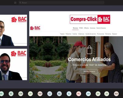 Compra-Click es un método de pago que viene a presentar una solución rápida, fácil y segura para los comercios que ofrecen servicios en línea. Foto Prensa Libre: Cortesía