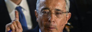 Uribe es el primer expresidente colombiano en rendir una indagatoria ante la Corte Suprema. GETTY IMAGES