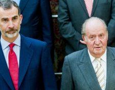 El rey de España, Felipe VI, ha tomado la decisión de distanciarse de su padre ante los escándalos recientes. GETTY IMAGES