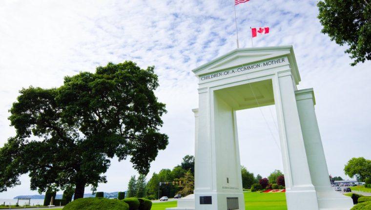 El Arco de la Paz se erigió en 1921 para conmemorar el Tratado de Gante, que puso fin a la Guerra de 1812. GETTY IMAGES