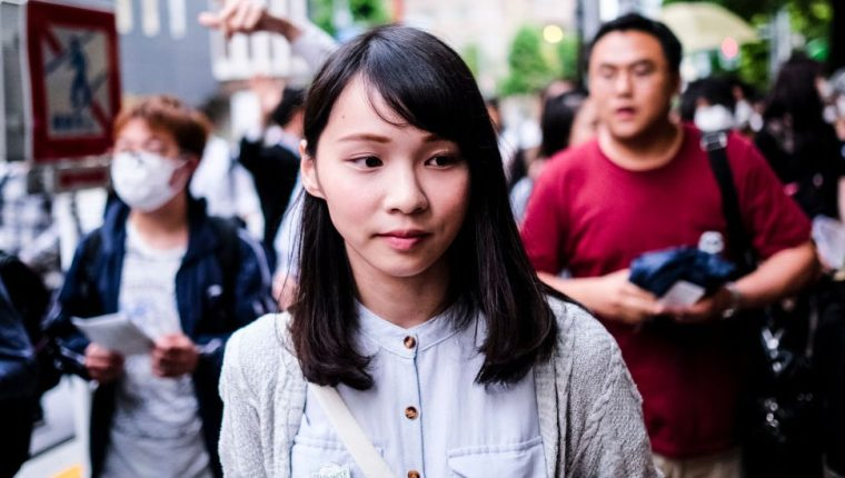 Chow tiene solo 23 años pero ya es una figura destacada en Hong Kong.