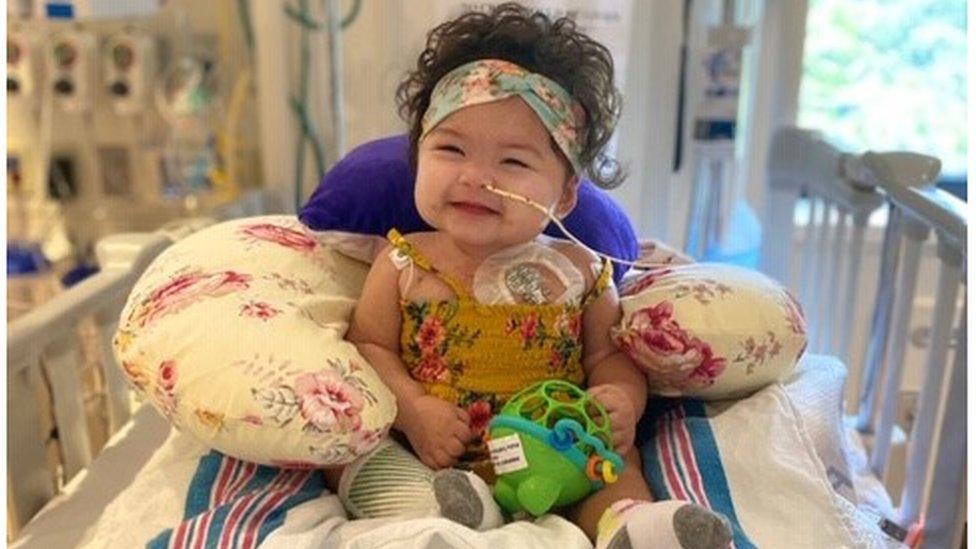 La emotiva historia de la bebé que precisó un trasplante de corazón en medio de la pandemia de coronavirus