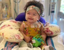 Alexandra fue internada en Nueva York en marzo de este año, en el auge de la pandemia de covid-19. La bebé debió esperar cuatro meses por un corazón de un donante compatible.