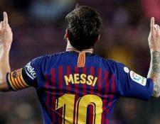 Los goles de Messi en Barcelona fueron cientos y casi siempre los festejaba apuntando al cielo.