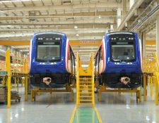 Se espera que estos trenes entren en operación en el segundo trimestre de 2021 para brindar servicio en el área metropolitana. (Foto Prensa Libre: Presidencia de Costa Rica)