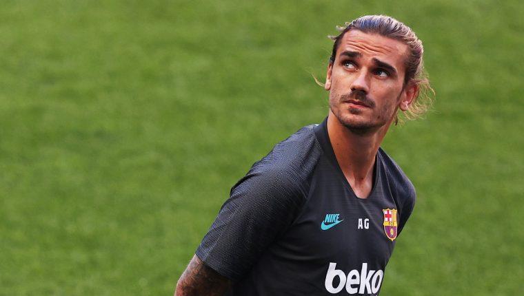 Parece ser la oportunidad perfecta de Griezmann para brillar en el Barcelona. (Foto Prensa Libre: EFE)