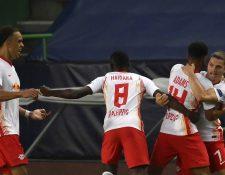 El Leipzig clasificó a las semifinales de la Champions League. (Foto Prensa Libre: EFE)