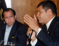 Fotografía del 18 de julio de 2007 que muestra al expresidente de Ecuador Rafael Correa, quien anunció este 18 de agosto de 2020 que aspirará a la vicepresidencia de su país en las elecciones de 2021. (Foto Prensa Libre: EFE)
