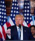 """El presidente Donald  Trump le respondió en Twitter a Michelle Obama su discurso en el que lo calificaba como """"el presidente equivocado"""".  (Foto Prensa Libre: EFE)"""
